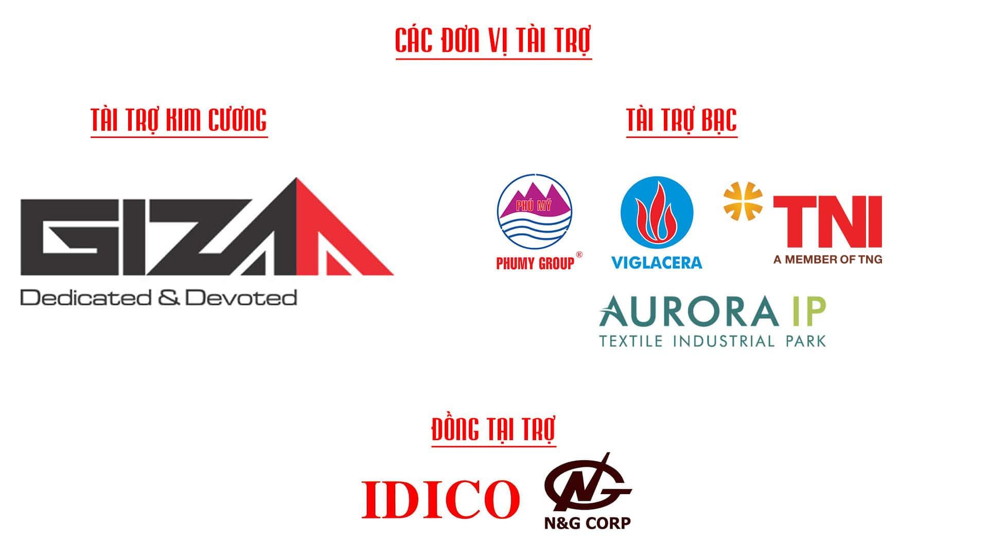 Các đơn vị tài trợ diễn đàn bất động sản khu công nghiệp việt nam 2019