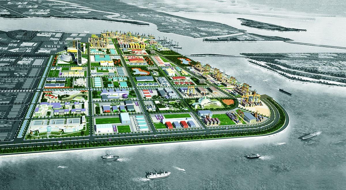 Khu công nghiệp Nam Đình Vũ nằm ở vị trí đắc địa ngay tại cửa ngõ thông ra biển gần nhất so với các khu công nghiệp khác cùng khu vực.