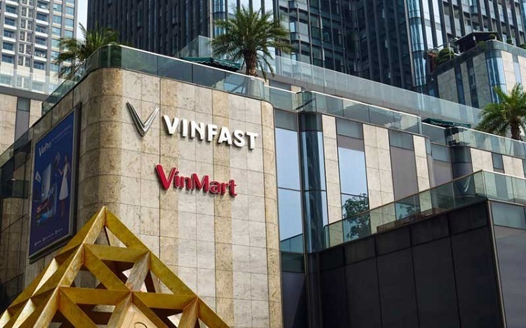 Logo VinFast bên ngoài Vinhomes Central Park tại TP HCM. Ảnh: Bangkokbanksme.