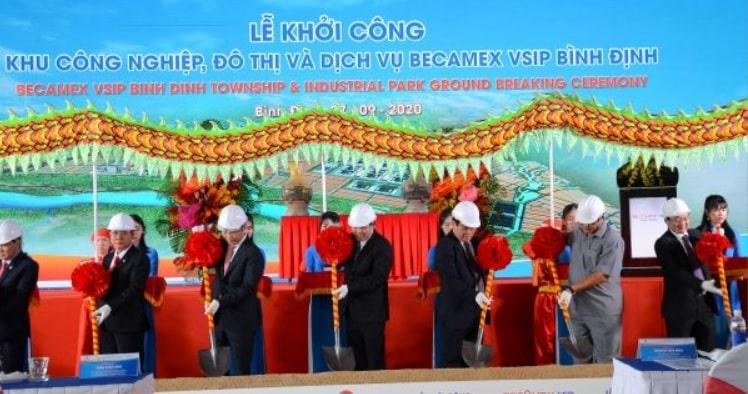 Khoi Cong Xay Dung Khu Cong Nghiep Do Thi Dich Vu Becamex Vsip Binh Dinh 1