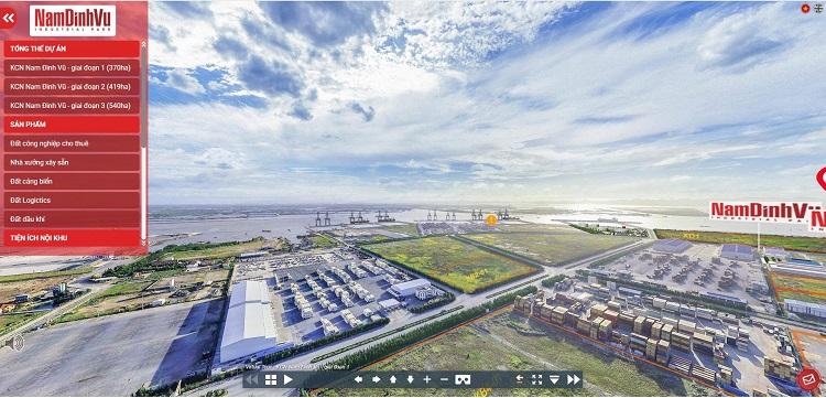 Nhà đầu tư sẽ được thăm quan KCN Nam Đình Vũ bằng công nghệ thực tế ảo