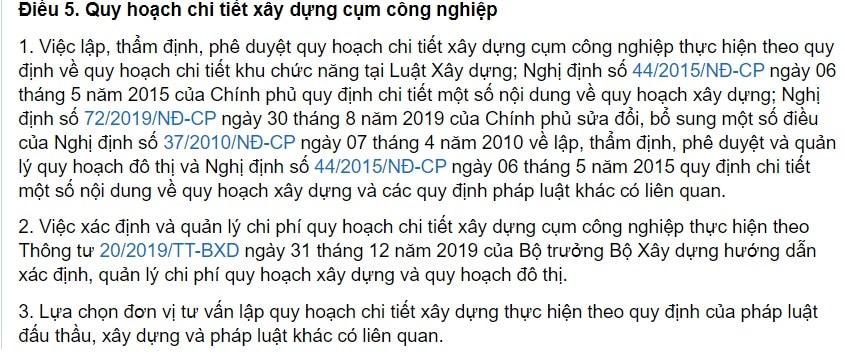 Quy Dinh Ve Du An Dau Tu Xay Dung Ha Tang Ky Thuat Khu Cong Nghiep 1